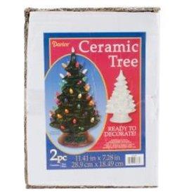 Darice Ceramic Tree - White Bulbs