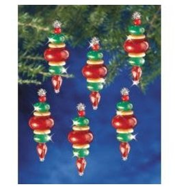 """Holiday Beaded Ornament Kit Victorian Baubles 2.25""""X.75"""" Makes 12"""