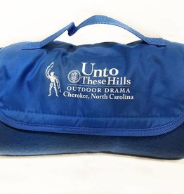 Unto These Hills Logo Roll-Up Blanket