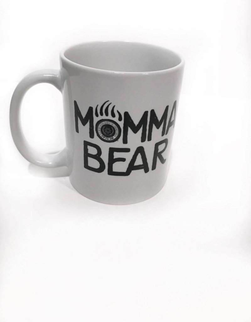 Momma Bear Coffee Mug with Tribal Seal in Paw Print.