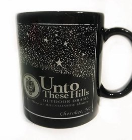 Unto These Hills Black Starry Night Coffee Mug