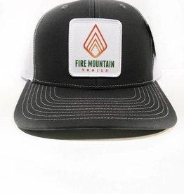 Fire Mountain Snapback Ball Cap Black & White