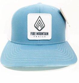 Fire Mountain Snapback Ball Cap Carolina Blue & White