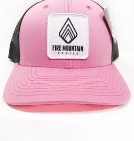 Fire Mountain Snapback Ball Cap Candy Pink & Black