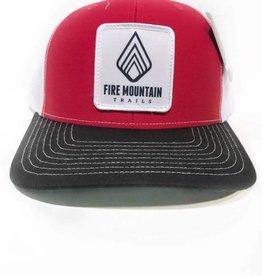 Fire Mountain Snapback Ball Cap Red, White, Black