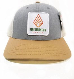 Fire Mountain Snapback Ball Cap Gray & Khaki