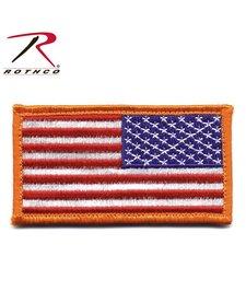 Reverse American Flag Patch W/ Hook Back