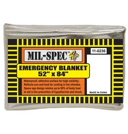 "Major Surplus Mil-Spec Emergency Blanket 52""x84"""