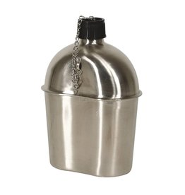 Major Surplus Mil-Spec WWII Style Stainless Steel Canteen