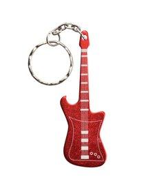 UST Keychain Guitar Bottle Opener Red