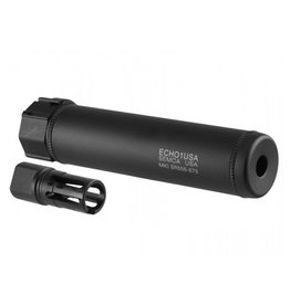 "Echo 1 Echo 1 SR556 6.75"" QD Suppressor w/ Flash Hider"