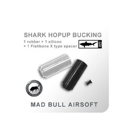 Madbull Madbull Airsoft Black/Clear Shark Bucking w/ Fish Bone Spacer 2 Pack