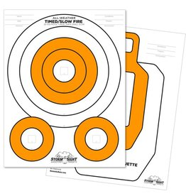Rite in the Rain Rite in the Rain 8.5 X 11 100 LB CLOSE RANGE TARGET 25 PK WHITE/ORANGE