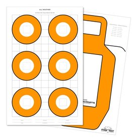 Rite in the Rain Rite in the Rain 8.5 X 11 100 LB ZEROING TARGET25 PK WHITE/ORANGE