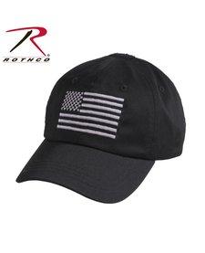 Rothco Operator Cap Black w/Flag