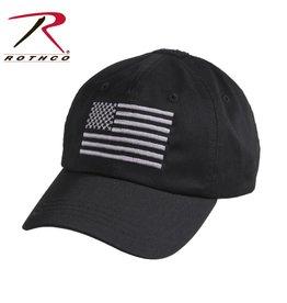 Rothco Rothco Operator Cap Black w/Flag