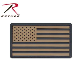 Rothco Rothco Rubber US Flag Patch W/Hook Back