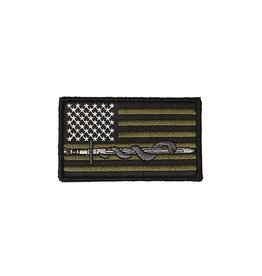 Lancer Tactical Lancer Tactical Sword & Snake Embroidered Patch Olive Drab