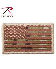 Rothco US Flag Patch W/ Hook Black/Multicam