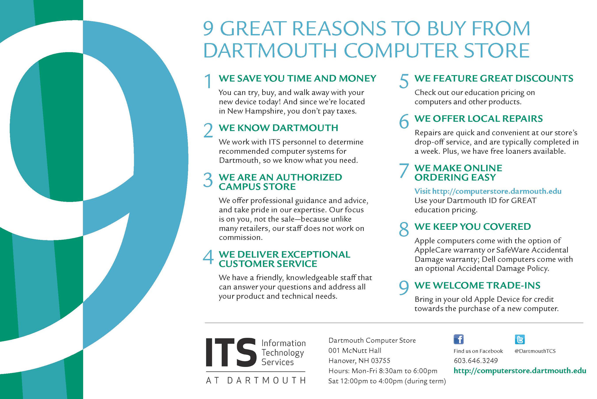 9 great reasons to buy from us