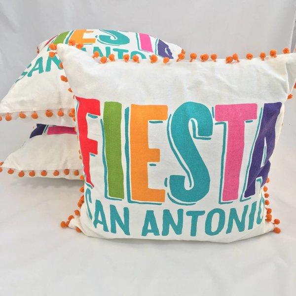 Custom Fiesta Logo Pillow