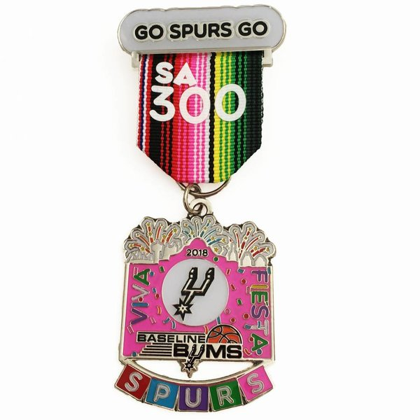 #31 Baseline Bums 2018 Spurs Medal