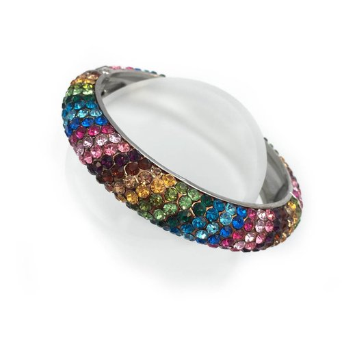 Rhinestone Fiesta Bangle Bracelet