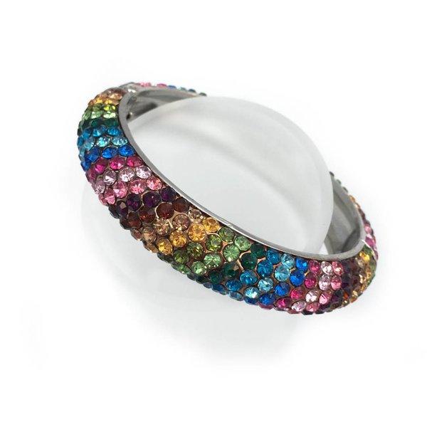 Rhinestone Fiesta Bangle Bracelet
