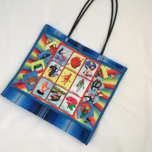Loteria Market Bag with Beads
