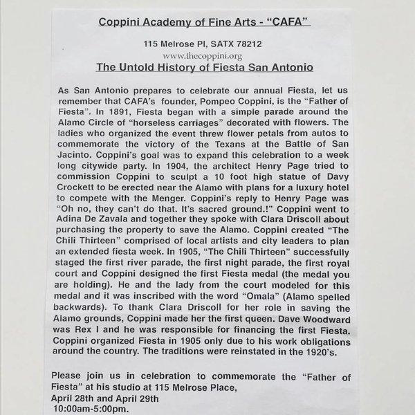 #65A Coppini Academy of Fine Arts Pin- 2018