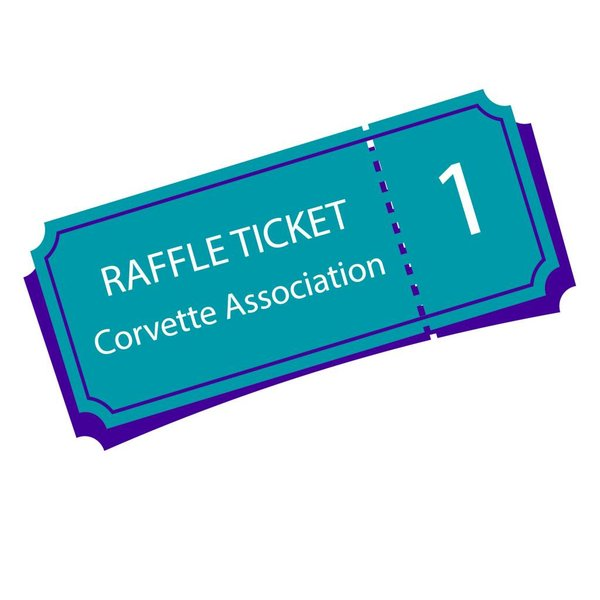 Texas Corvette Association Raffle Ticket