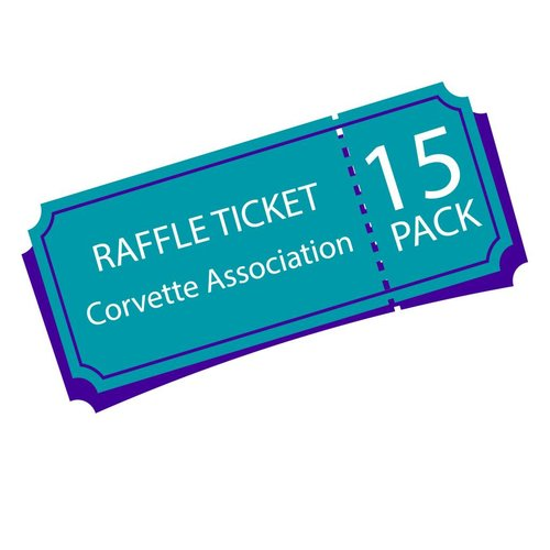 Texas Corvette Association Raffle Ticket 15 pack