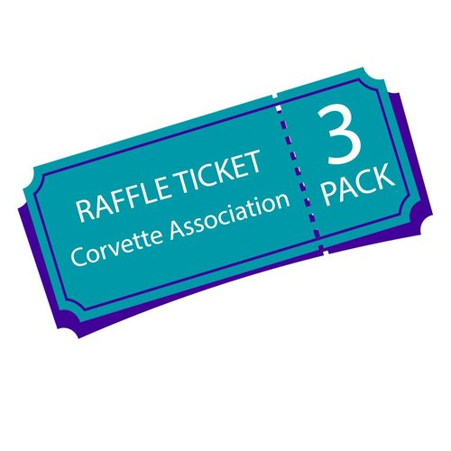Texas Corvette Association Raffle Ticket 3 pack