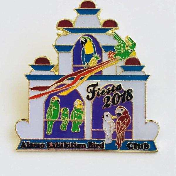 #72A -Alamo Exhibition Bird Club Pin - 2018