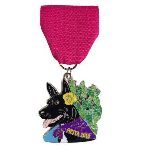 #98B- The Cannoli Fund- Stella The Dog Medal- 2018