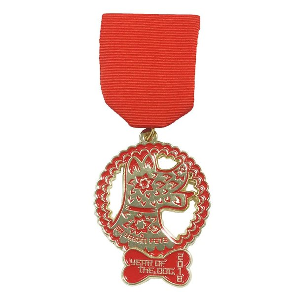 #102A-PAWsitively Sweet Bakery - Year Of The Dog Medal -2018