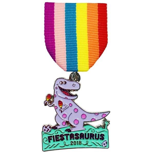 #52C-2 - S.A.Flavor - FIESTASAURUS Dinosaur Medal-2018
