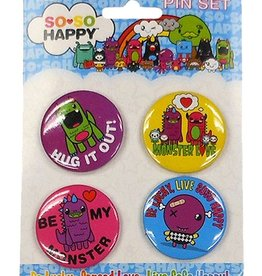 Hug It Out Button Set