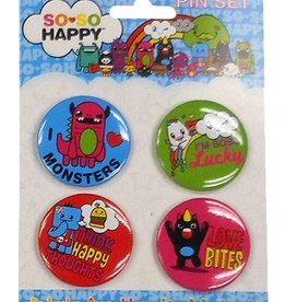 I Heart Monster Button Set