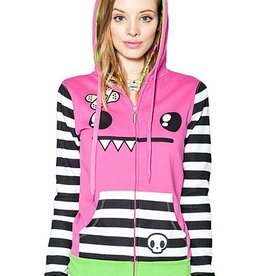 Mix Tape Women's Hoodie (Extra Large) - Pink