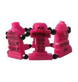 Graveyard Groupie Bracelet - Pink