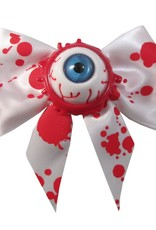 Hair Bow Single Eyeball Splatter - Blue