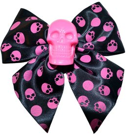 Skull Collection Pink Hair Bow