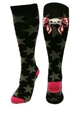 Skully Bow Stars Socks