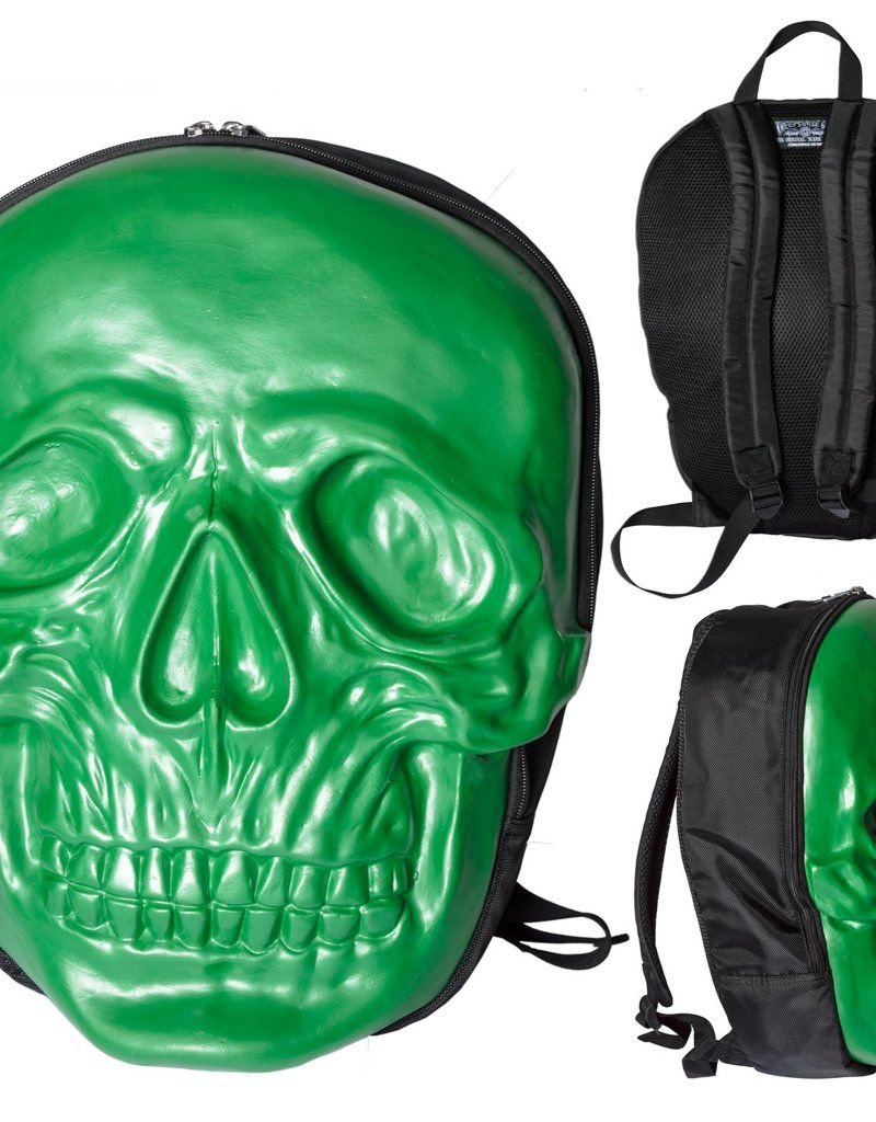 Skull Backpack - Green