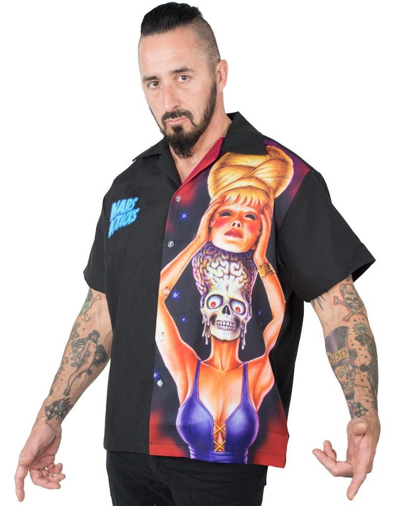 Mars Attacks Spy Girl Panel Shirt