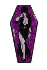 Elvira Coffin Pin - Purple/Glitter