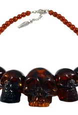 Skull Collection Necklace - Amber