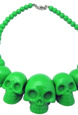 Skull Collection Necklace - Green