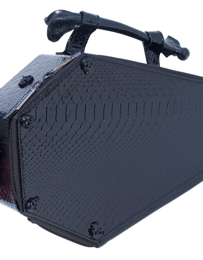 Skull Stud Croc Coffin Bag